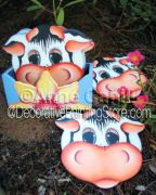 Cow Coasters ePattern - Anne Cahill - PDF DOWNLOAD