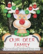 Our Deer Family ePattern - Anne Cahill - PDF DOWNLOAD
