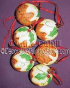 Xmas Pudding Baubles ePattern - Anne Cahill - PDF DOWNLOAD