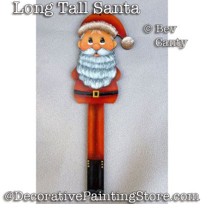 Long Tall Santa Ornament PDF DOWNLOAD - Bev Canty