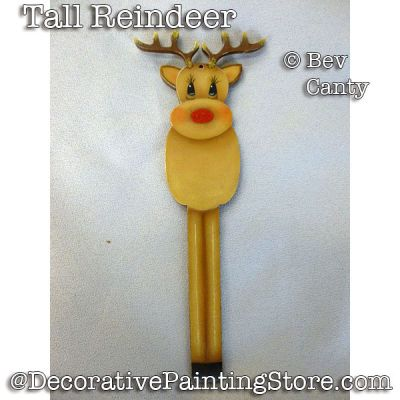 Tall Reindeer Ornament PDF DOWNLOAD - Bev Canty