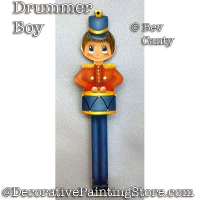 Drummer Boy Ornament PDF DOWNLOAD - Bev Canty