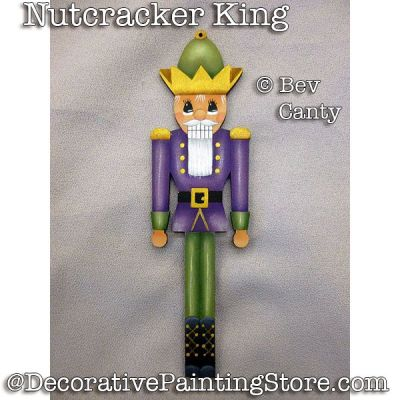 Nutcracker King Ornament PDF DOWNLOAD - Bev Canty