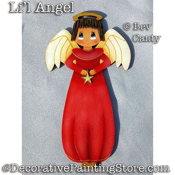 Lil Angel Ornament PDF DOWNLOAD - Bev Canty
