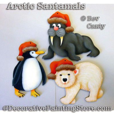 Arctic Santamals Ornaments PDF DOWNLOAD - Bev Canty