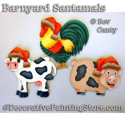 Barnyard Santamals Ornaments PDF DOWNLOAD - Bev Canty