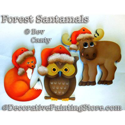 Forest Santamals Ornaments PDF DOWNLOAD - Bev Canty
