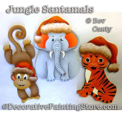 Jungle Santamals Ornaments PDF DOWNLOAD - Bev Canty