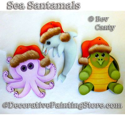 Sea Santamals Ornaments PDF DOWNLOAD - Bev Canty