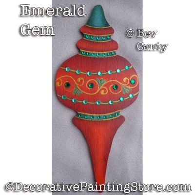 Emerald Gem Ornament PDF DOWNLOAD - Bev Canty
