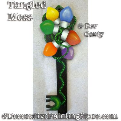 Tangled Mess Key Ornament PDF DOWNLOAD - Bev Canty