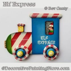 Elf Express Ornament PDF DOWNLOAD - Bev Canty