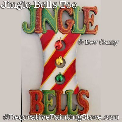 Jingle Bells Ornament PDF DOWNLOAD - Bev Canty
