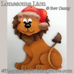 Lonesome Lion Ornament PDF DOWNLOAD - Bev Canty