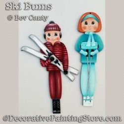 Ski Bums Ornaments PDF DOWNLOAD - Bev Canty