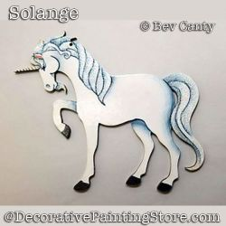 Solange Unicorn Ornaments PDF DOWNLOAD - Bev Canty