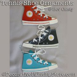 Tennis Shoe Ornaments PDF DOWNLOAD - Bev Canty