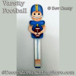 Varsity Football Player Ornament PDF DOWNLOAD - Bev Canty