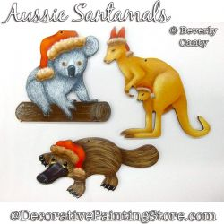 Aussie Santamals Ornament PDF DOWNLOAD - Bev Canty