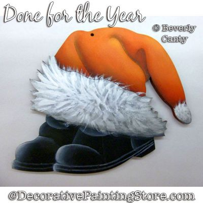 Done for the Year (Santa Hat - Boots) PDF DOWNLOAD - Bev Canty