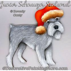Junior Santamal (Schnauzer) Ornament PDF DOWNLOAD - Bev Canty