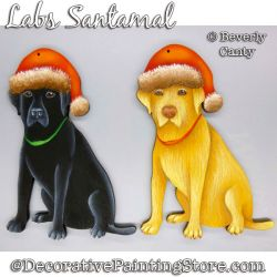 Labs Santamal (Labrador Retriever) Ornament PDF DOWNLOAD - Bev Canty
