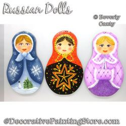 Russian Dolls Ornament PDF DOWNLOAD - Bev Canty