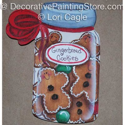 Ginger Cookies Jar Ornament- Lori Cagle - PDF DOWNLOAD