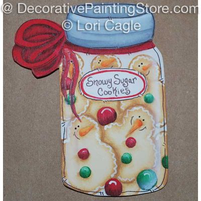 Snowy Sugar Cookies Jar Ornament- Lori Cagle - PDF DOWNLOAD