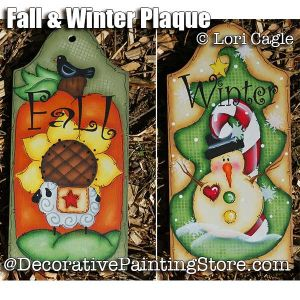 Fall and Winter Plaques - Lori Cagle - PDF DOWNLOAD