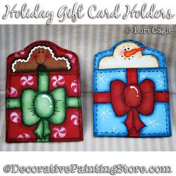 Holiday Gift Card Holders - Lori Cagle - PDF DOWNLOAD