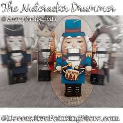Nutcracker Drummer Ornament Painting Pattern PDF DOWNLOAD - Anita Campanella