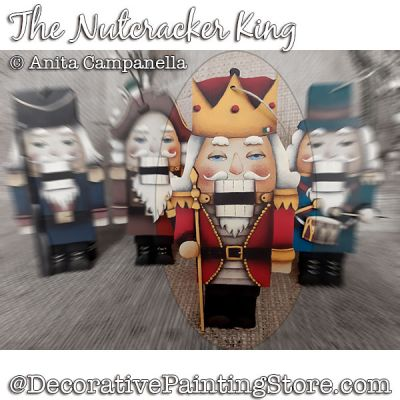 Nutcracker King Ornament Painting Pattern PDF DOWNLOAD - Anita Campanella
