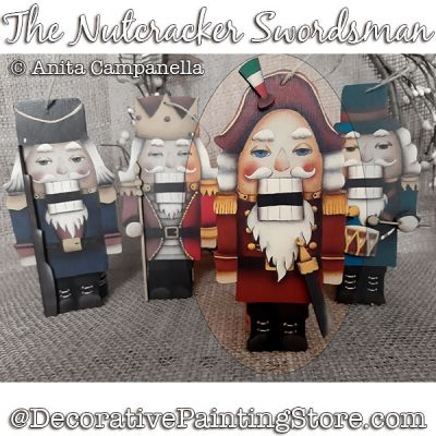 Nutcracker Swordsman Ornament Painting Pattern PDF DOWNLOAD - Anita Campanella