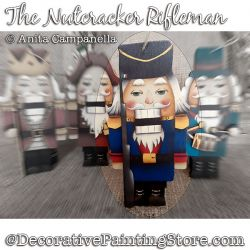 Nutcracker Rifleman Ornament Painting Pattern PDF DOWNLOAD - Anita Campanella