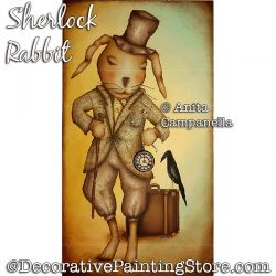 Sherlock Rabbit Painting Pattern PDF DOWNLOAD - Anita Campanella