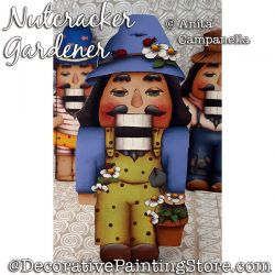 Nutcracker Gardener Ornament Painting Pattern PDF DOWNLOAD - Anita Campanella