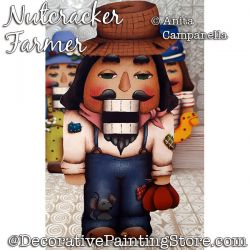 Nutcracker Farmer Ornament Painting Pattern PDF DOWNLOAD - Anita Campanella