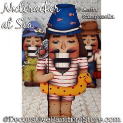 Nutcracker at Sea Ornament Painting Pattern PDF DOWNLOAD - Anita Campanella