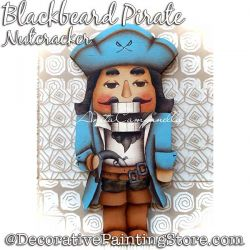 Blackbeard Pirate Nutcracker Ornament Painting Pattern PDF DOWNLOAD - Anita Campanella