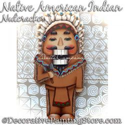 Native American Indian Nutcracker Ornament Painting Pattern PDF DOWNLOAD - Anita Campanella
