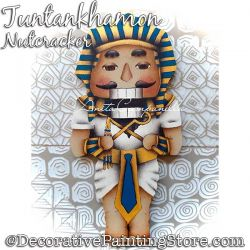 Tutankhamon Nutcracker (King Tut) Ornament Painting Pattern PDF DOWNLOAD - Anita Campanella