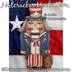 Nutcracker Uncle Sam Ornament Painting Pattern PDF DOWNLOAD - Anita Campanella