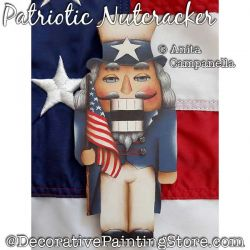 Patriotic Nutcracker Ornament Painting Pattern PDF DOWNLOAD - Anita Campanella