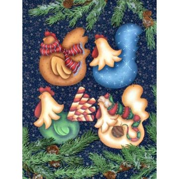 MORE Funky Christmas Chickens Ornaments DOWNLOAD