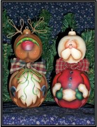 Santa & Reindeer Jingle Bellies Ornaments DOWNLOAD