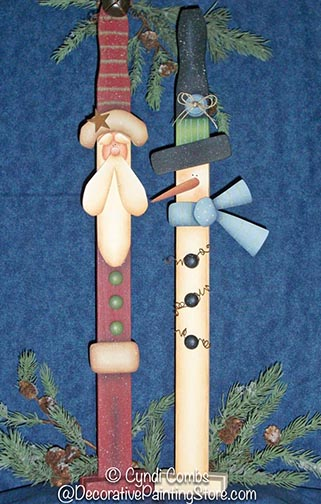 Santa & Snowman Paint Sticks Pattern BY DOWNLOAD