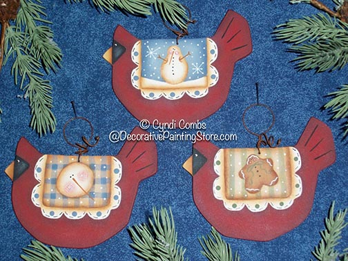 Wynter Birdies Ornaments Pattern BY DOWNLOAD