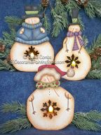 Snowie Twinkles Ornaments Pattern BY DOWNLOAD