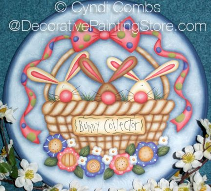 Bunny Collector Plate Pattern - Cyndi Combs - BY DOWNLOAD